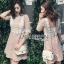 Lace with Lady Ribbon Nude Lining Mini Dress thumbnail 3