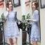 Lady Ribbon Lace Dress in Light Blue thumbnail 1