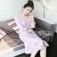 Lady Ribbon Baby Pink Crepe Dress thumbnail 3