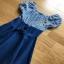 Blue Cotton and Denim Lady Ribbon Dress เดรสผ้าคอตตอน thumbnail 5
