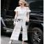 Lady Ribbon Michelle Pure White Lace Jumpsuit thumbnail 3