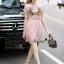 Lady Ribbon Online เสื้อผ้าออนไลน์ ขายส่ง normal ของแท้ NA13140716 &#x1F389Normal Ally Present embroidered flower lace elegance dress&#x1F389 (เดรสลูกไม้งานปัก , ซับในอย่างดีทั้งชุด) thumbnail 4