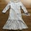 Lace Ruffle Dress Lady Ribbon เดรสลูกไม้สีขาว thumbnail 9