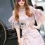 Lady Ribbon Online เสื้อผ้าออนไลน์ ขายส่งของแท้ราคาถููก LR17110716 &#x1F380 Lady Ribbon's Made &#x1F380 Lady Christina Modern Vintage Lace Blouse and Hot skirt Set thumbnail 4