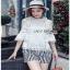 Lady Ribbon Chloe Cut-Out Top and Striped เสื้อคอตตอนแต่งลูกไม้ thumbnail 1