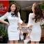 Lady Ribbon Online เสื้อผ้าออนไลน์ขายส่ง very very pretty เสื้อผ้า VP05140816 Princess White Lace and Cotton Dress thumbnail 2