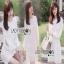 White Lady ribbon Lace and Chiffon Dress เดรสผ้าลูกไม้ thumbnail 1