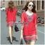 Lady Ribbon Online เสื้อผ้าออนไลน์ ขายส่ง VP01110717 Bohemian Red-Chiffon Colorful beads Embroidery Blouse thumbnail 2