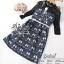 ST10310716 &#x1F340สินค้าพร้อมส่ง&#x1F340 한국에 의해 설계된 2Sister Made, Eastern Style Dress with Belt เดรสลุคเรียบหรู เนื้อผ้าผสมsilkหนาเกรดดี พิมพ์ thumbnail 7