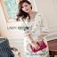 White Crepe Lady Ribbon Mini Dress มินิเดรสผ้าเครป thumbnail 4