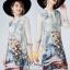 เสื้อผ้าแฟชั่นเกาหลีพร้อมส่งด้านหลังเป็นชีฟองสีครีม thumbnail 2