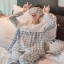 Lady Emma Pretty Pastel Check Ruffle Pajamas Ribbon thumbnail 3