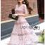 Lady Ribbon Online ขายส่งเสื้อผ้าออนไลน์ Lady Ribbon พร้อมส่ง LR18040816 &#x1F380 Lady Ribbon's Made &#x1F380 Lady Carly Feminine Pinky Striped Lace Maxi Dress เดรสยาวผ้าลูกไม้สี thumbnail 2