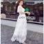 White Lace Maxi Dress Lady Ribbon เดรสยาว thumbnail 2