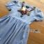 Blue Denim Dress Lady Ribbon เดรสผ้าเดนิม thumbnail 4