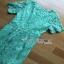 Lady Ribbon Lady Penelope Elegant Feminine Minty Lace Maxi Dress เดรสยาวผ้าลูกไม้ thumbnail 5