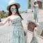 Lady Ribbon Online เสื้อผ้าแฟชั่นออนไลน์ขายส่ง เลดี้ริบบอนของแท้พร้อมส่ง sevy เสื้อผ้า SV07240716 &#x1F389Sevy Stick Stripes Off Shoulder Jumpsuit (+Belt) Type: Jumpsuit thumbnail 3