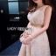 Lady Ribbon Crepe Maxi Dress เดรสผ้าลูกไม้ thumbnail 3