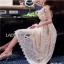 Lady Ribbon Crepe Maxi Dress เดรสผ้าลูกไม้ thumbnail 6
