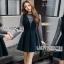 Lady Ribbon Danielle Green Pleated Set Dress thumbnail 1