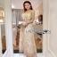 Golden Maxi Dress Lady Ribbon เดรสผ้าทูลเล thumbnail 2