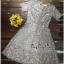 VP01310816 Vintage Silver Florals Lace Dress เดรสผ้าลูกไม้ทั้งตัวสไตล์วินเทจ thumbnail 5