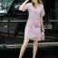 Lady Ribbon Online เสื้อผ้าออนไลน์ ขายส่ง normal ของแท้ NA08140716 &#x1F389Normal Ally Present embroider crystal neck elegant dress thumbnail 5