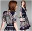 LR11290816 &#x1F380 Lady Ribbon's Made &#x1F380 Lady Sasha Classy Smart Printed Midi Dress with Ribbon Belt thumbnail 4