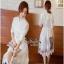 เชิตเดรสแฟชั่นตัวยาวตัดต่อด้วยงานผ้าลูกไม้เกาหลีช่วงกระโปรง thumbnail 2