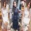 Lady Ribbon Lace Paneled Dress เดรสผ้าลูกไม้ลายดาว thumbnail 1