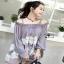 Lady Ribbon Lace Embroidered Chiffon Long Blouse thumbnail 3