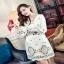 Lady Ribbon White Crepe Mini Dress มินิเดรสผ้าเครปสีขาวปักลายดอกไม้ thumbnail 2