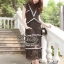 Lady Ribbon Online เสื้อผ้าแฟชั่นออนไลน์ขายส่ง เลดี้ริบบอนของแท้พร้อมส่ง Siter ST18240716 &#x1F340สินค้าพร้อมส่ง&#x1F340 한국에 의해 설계된 2Sister Made, Black & White Beauty Elegant Supreme Flora Lace thumbnail 3