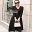 Chic Black Crepe Lady Ribbon Dress thumbnail 4