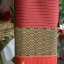 ผ้าตีนจกไหมแท้ลายแมงโบ้งเลน ทอมือพิเศษ (คล้องไหมแดงตรงเชิง) ต่อซิ่นผ้าไหมแท้ลายขวาง thumbnail 2