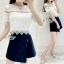 Sevy Two Pieces Of Lace Blouse With Oblique Shorts Sets thumbnail 3