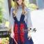 Lady Ribbon Online เสื้อผ้าออนไลน์ขายส่ง Normal Ally เสื้อผ้า,NA10220816 &#x1F389Normal Ally Present Embroidered skirt autumn new collection and striped shirt&#x1F389 (เสื้อเชิตริ้วปักการ์ตูน+ กป.ปักนูนลายกราฟฟิก, มีซับในอย่างดี) thumbnail 3