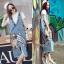Lady Ribbon Online เสื้อผ้าออนไลน์ขายส่ง Normal Ally เสื้อผ้า NA01150816 &#x1F389Normal Ally Present Denim bib skirt summer set&#x1F389 (เอี้ยมยีนส์ปักเลื่อม + เกาะอกสีดำ) thumbnail 1