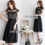 Lady Ribbon Lace and Cotton Midi Dress thumbnail 1