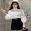 Lady Ribbon Yves Classic Sweet White Lace Blouse thumbnail 1