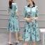 เสื้อผ้าแฟชั่นเกาหลี ชุดเดรสแฟชั่นผ้าไหมอิตาลี่ เนื้อผ้าสวยเงามีซิบ thumbnail 1