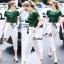 Lady Ribbon Online เสื้อผ้าออนไลน์ขายส่ง Normal Ally เสื้อผ้า NA14180816 &#x1F389Normal Ally Present new summer set casual pant and satin T-shirt set&#x1F389 thumbnail 1