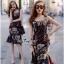 Lady Ribbon Online เสื้อผ้าออนไลน์ขายส่ง very very pretty เสื้อผ้า VP04140816 Smart Casual Polka Dot Print Sleeveless Dress thumbnail 1