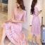 เสื้อผ้าแฟชั่นเกาหลีสีหวานๆ ชมพู Pink thumbnail 3