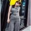 Zippy Jumpsuit with Belt Lady Ribbon จัมป์สูทแขนกุด thumbnail 1
