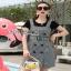 Lady Ribbon Black T-Shirt Dress Set ขายเซ็ตเสื้อยืด thumbnail 1