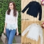 Sevy Long Sleeve High Neck Lace Blouse thumbnail 1