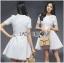 Lady Ribbon Online ขายส่งเสื้อผ้าออนไลน์เลดี้ริบบอน LR13010816 &#x1F380 Lady Ribbon's Made &#x1F380 Lady Diana Feminine Pure White Lace and Polyester Dress เดรสผ้าโพลี thumbnail 2