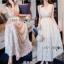 Lady Ribbon Crepe Maxi Dress เดรสผ้าลูกไม้ thumbnail 2