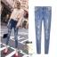 กางเกงยีนส์แฟชั่นแต่งรอยขาด แบรนด์เกาหลี Daisy thumbnail 19